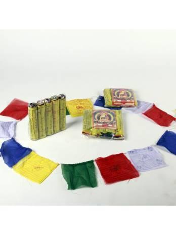 Banderas tibetanas 10x10 cm