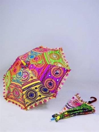 Parasol bordado 67 cm dia