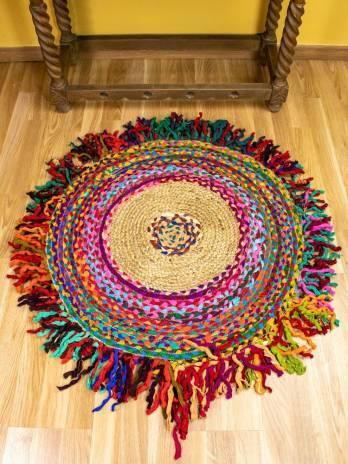 Alfombra yute multicolor