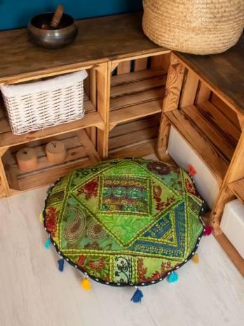 Zafú redondo patchwork mediano